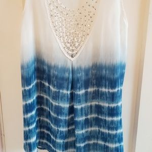 Sleeveless sheer top